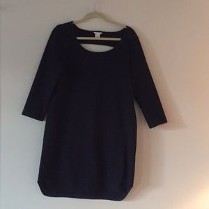 Navy Club Monaco dress with back cut-out